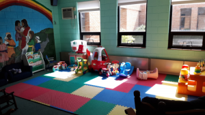 room with children's toys