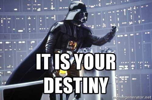 "Darth Vader, ""It's your destiny."""""
