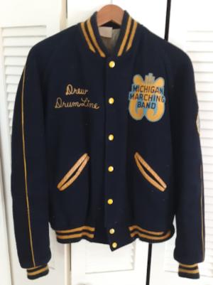 Pastor Drew's University of Michigan Marching Band Jacket